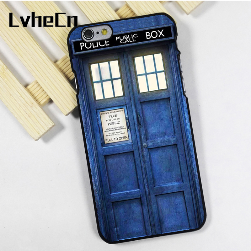 LvheCn phone case cover fit for iPhone 4 4s 5 5s 5c SE 6 6s 7 8 plus X ipod touch 4 5 6 Dr Who Tardis Police Call Box