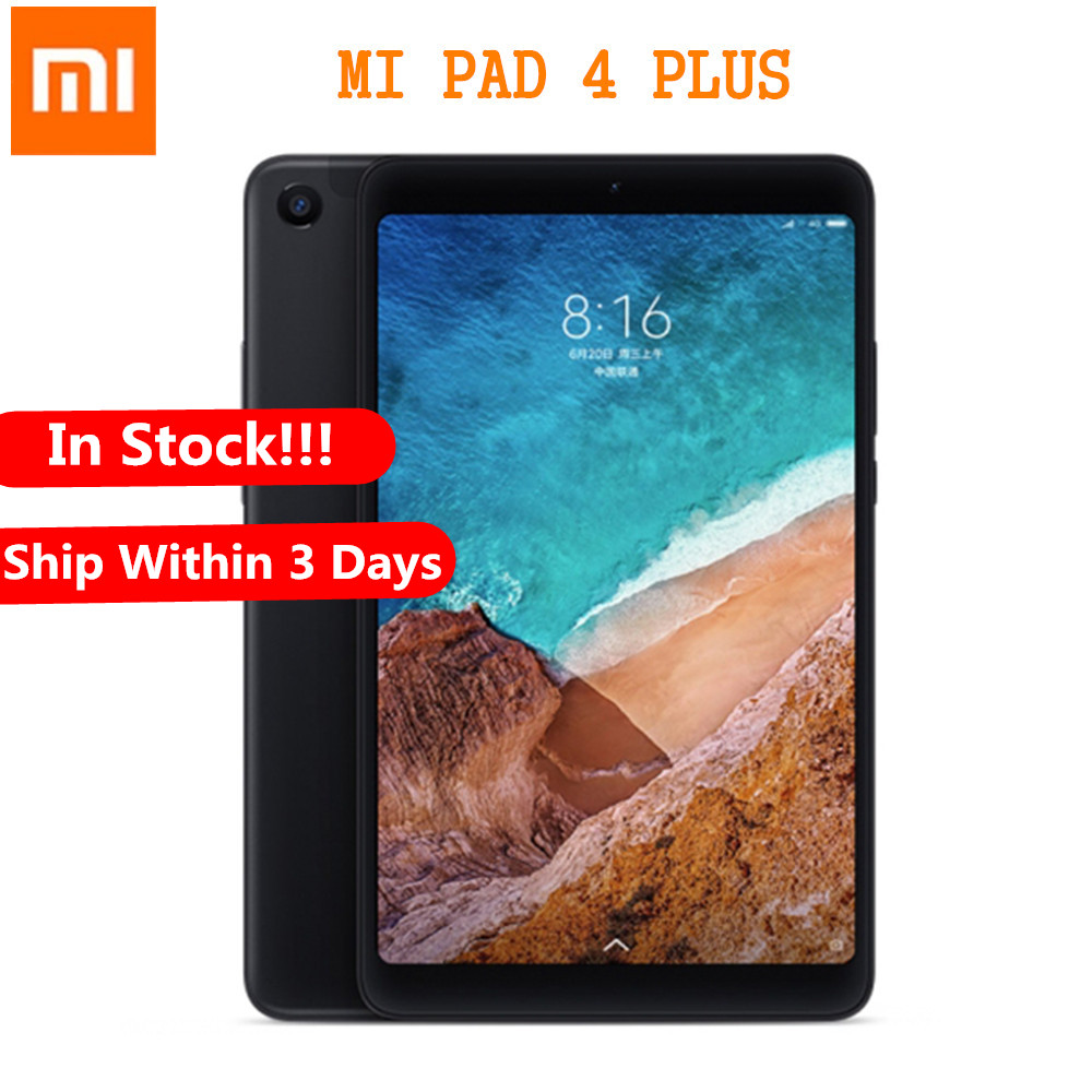 Xiaomi Mi Pad 4 Plus 4G Phablet 10.1 Inch MIUI 9.0 Qualcomm Snapdragon 660 4GB 64GB Tablet PC Facial Recognition Camera WiFi LTE ekind head mounted wireless headphone bluetooth headset earphone with mic support tf card radio for phone iphone xiaomi pc tv