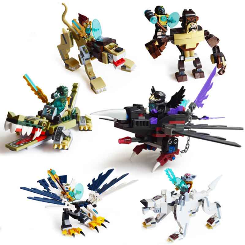 Qigong Legendary Animal Editon Chimaed Super Hero Figure Building Block Brick For Children Gift Kid Toy Compatible With Sermoido