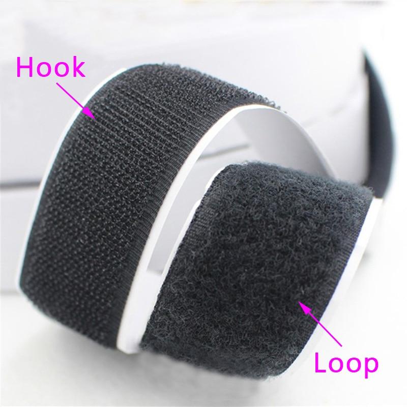 2CM*1M/Pairs Black White Magic Tape Hook Loop Fastener Magic Tape Nylon Sticker Self Adhesive Disks Tape Strong Glue