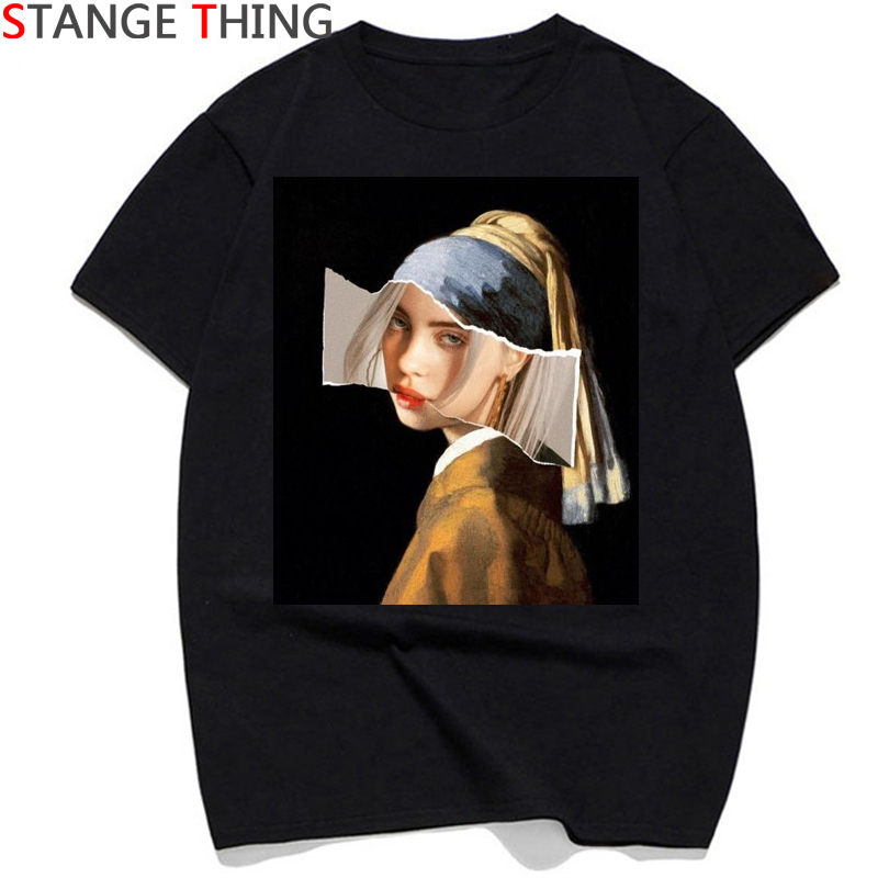 Newest Billie Eilish T Shirt Men/women Vintage Hip Hop Streetwear T-shirt Bad Guy Funny Print Tshirt 90s Top Tees Male/female