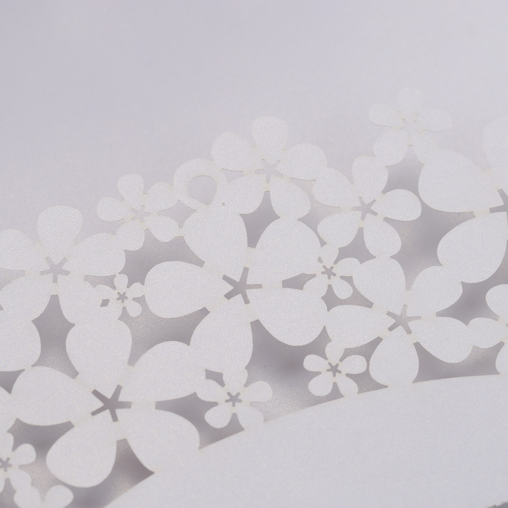 20pcs Laser Cut Wedding Invitation Card Carved Flower Pattern Hollow