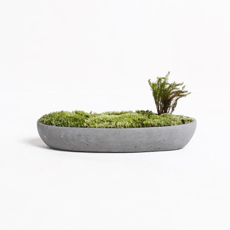Boat concrete flower pot molds Succulent plants pot silicone molds DIY planters molds