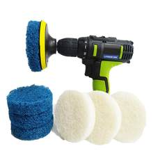 Power Scrubber Drill Plate Brushes Household Cleaning Sofa Bathroom Tile Grout Waxing Kit Water Stain Rust Remover(China)