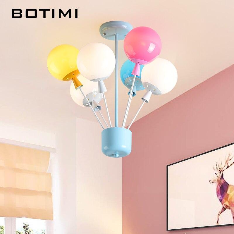 BOTIMI Новое поступление потолочные светильники с акриловой абажур для детской комнаты красочные Lamparas де techo Крытый Декор Дети освещения