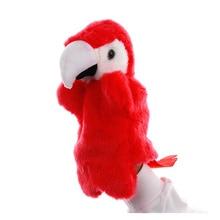 цены на 1 Pcs Classic Cute Cartoon Animal Parrot Hand Puppet Finger Puppet Hand Learning & Education Toys Marionetes Fantoche Puppets  в интернет-магазинах
