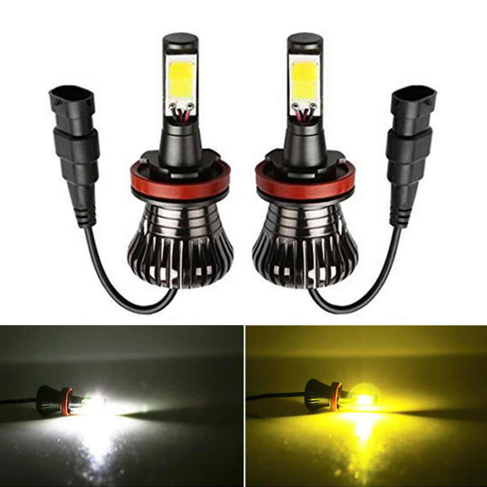 Dual Color 6000k 3000k White Yellow Blue H1 H3 H7 H8 H9 H11 9005 9006 880 881 H16 Car LED Fog Light for passat 2002 h7
