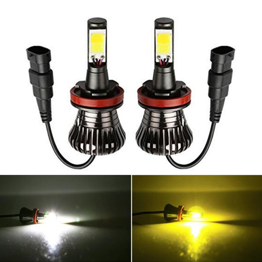 Dual Color 6000k 3000k White Yellow Blue H1 H3 H7 H8 H9 H11 9005 9006 880 881 H16 Car LED Fog Light for Ford VW Honda Toyota