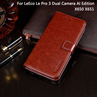 For Letv LeEco Le Pro 3 AI Edition X650 Case Cover Flip Leather Case For LeEco Le Pro 3 Dual Camera Al Edition X651 Cover Capa