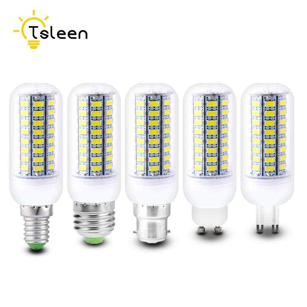 Bombillas corn Bulb E27 SMD 5730 lamparas LED Light G9 GU10 B22 E14 Lampada LED Lamp E27 220V 110V Ampoule Candle Luz MILKY