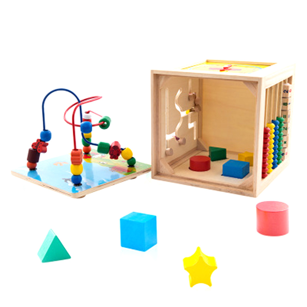 New Baby Colorful Wooden Mini Around Beads Wire Maze Education Developing Interactive Kids Toys For Children baby kids colorful wooden beads labyrinth maze game children toy wooden toy mini around beads wire maze educational game wj 094