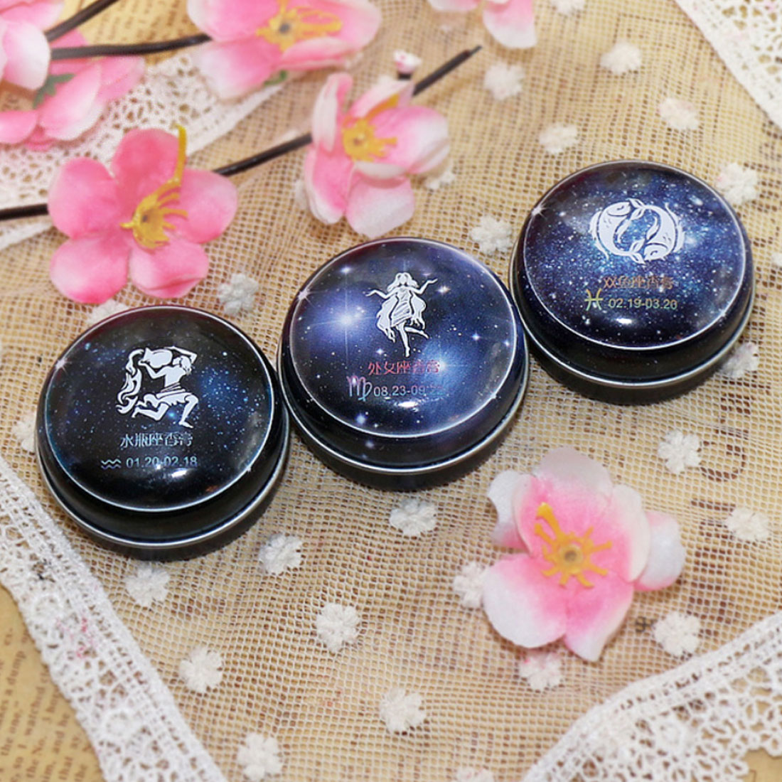Top Selling 1 PC Unisex Magic Zodiac Fragrance 12 Signs Constellation Deodorant Perfumed Solid Portable Tin Box Balm