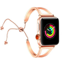 Women watch band For Apple Watch bands 38mm 42mm 40mm 44mm,Stainless Steel bracelet for Apple Watch strap iWatch Series 4 3 2 1 42mm 38mm for apple watch s3 series 3