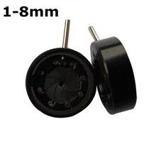 Best price 1-8 mm Amplifying Diameter Zoom Optical Iris Diaphragm Aperture Condenser 8 Blades for Digital Camera Microscope Adapter