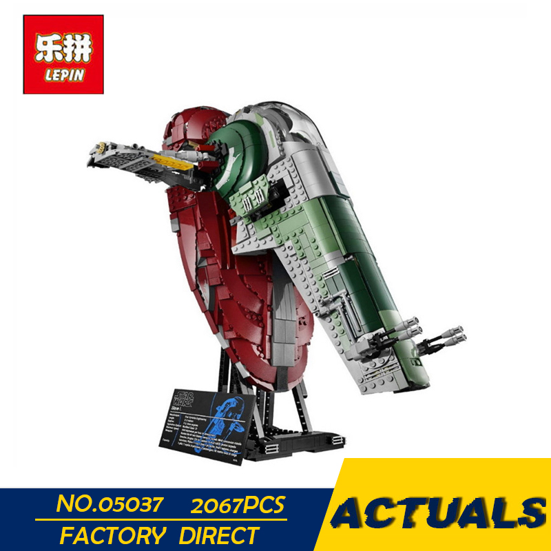 LEPIN 05037 Star Classic Series Wars Slave UCS I Slave NO.1 Model 2067Pcs Building Block Bricks Toys Compatible 75060 Boy Gifts цена
