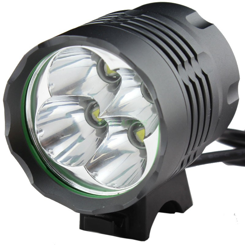 2 IN 1 5000 Lumens 4T6 Headlamp Headlight 4 x XML T6 LED <font><b>Bike</b></font> Bicycle <font><b>Light</b></font> + <font><b>Rechargeable</b></font> battery Pack image
