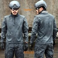 Kryptek Camo Mandrake Tactique Chemise Ripstop de Combat À Manches Longues Chemise Typhon Police 1/4 Zip Combat Shirt