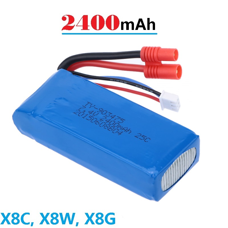 7.4V 2400mAh <font><b>Battery</b></font> for <font><b>SYMA</b></font> X8 X8C <font><b>X8W</b></font> X8G Round Type connector Spear Parts Accessories