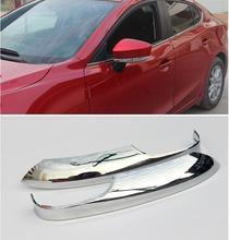 FOR 2014 2015 2016 Mazda 3 AXELA Mazda3 BM Sedan Hatchback Triple Chrome Side Mirror Cover Back Rear View Rearview