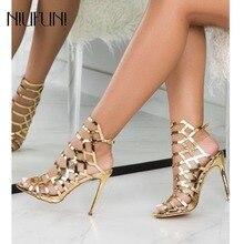 Women High Heels Sandals Hollow Ankle Strap Gladiator