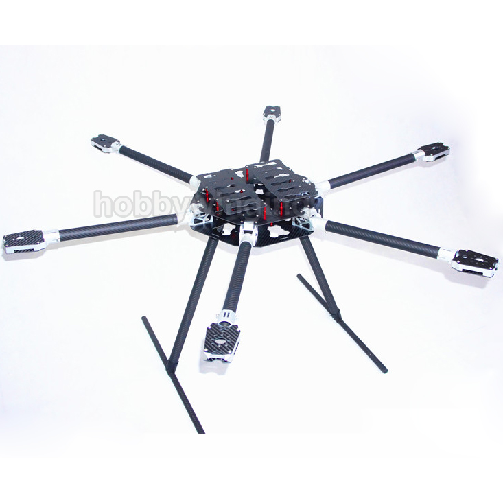 FPV CNC Aluminum Folding 1100mm Carbon Fiber UAV Hexacopter Frame Kit with two Battery Plate fpv x uav talon uav 1720mm fpv plane gray white version flying glider epo modle rc model airplane