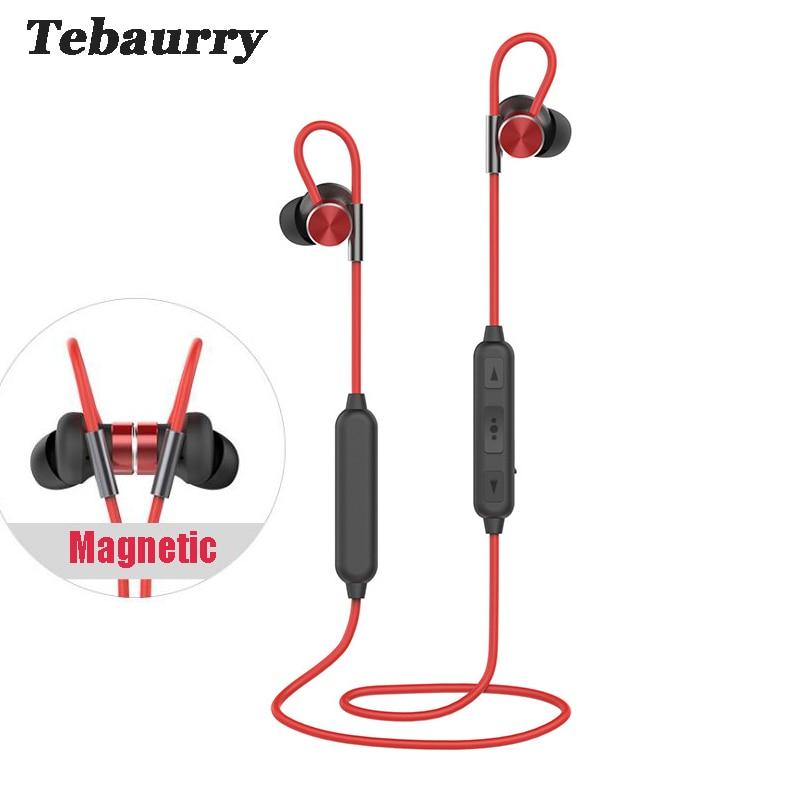 Tebaurry Bluetooth Headset IPX7 waterproof wireless headphone sports bass bluetooth earphone with mic for phone iPhone xiaomi цена и фото
