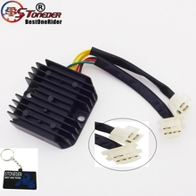 STONEDER 6 Wires Voltage Regulator Rectifier For Elite CH125 CH150 CH250 Scooter Moped Helix 250 CN250 Scooter 125cc 150cc 250cc