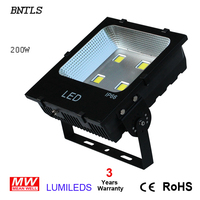 200W LED flood light outdoor wall lamp 22000 lm Bridgelux chip ideal replace 400W metal halide newest copper heat pipe