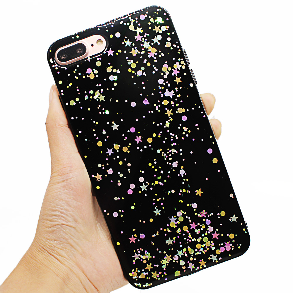 iphone 7 case glitter silicone