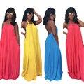 2016 Verão Sexy Mulheres Long Beach Vestido Multiway Maxi Vestido Vermelho Damas de Honra Convertible Envoltório Vestidos Robe Longue Femme