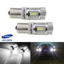 ANGRONG 2x 382 1156 P21W BA15s 15W SAMSUNG LED Bulb Side Indicator Daytime Running Light