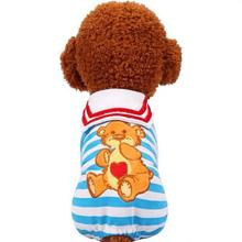 Popular Cartoon Puppy Clothes 2019 Dogs Coats For Small Dog Cats Clothing Soft Chihuahua Dog Coat Clothes Kawaii Pet Sweaters leisure cartoon chihuahua dog clothes for puppy overalls 2019 spring dog clothes for small dogs coats jackets puppies clothing