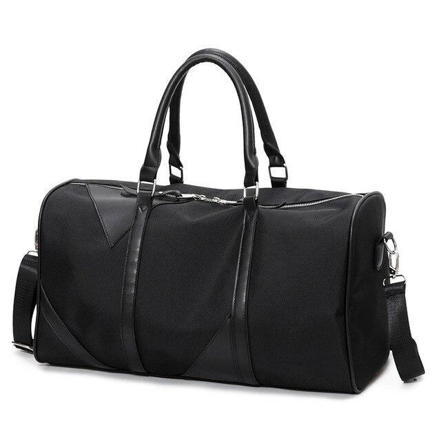 e28552084 Big Travel Bag Large Capacity Men Women Hand Luggage Packs Oxford Out Purse  Weekend Duffle Shoulder Messenger Black Off-road