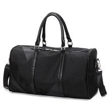 Большая Дорожная сумка большой Ёмкость мужчин и женщин ручной клади пакеты Оксфорд из кошелек выходные duffle плеча черный off- Дорога