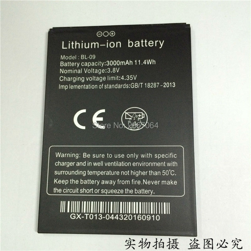Mobile <font><b>phone</b></font> battery THL BL-09 battery for T9 T9 Pro <font><b>3000mAh</b></font> High capacit Original quality Long standby time THL <font><b>phone</b></font> battery