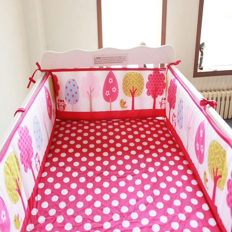 9 styles Cartoon baby bumper 100 cotton baby bedding crib bumper around baby Cot protetor de