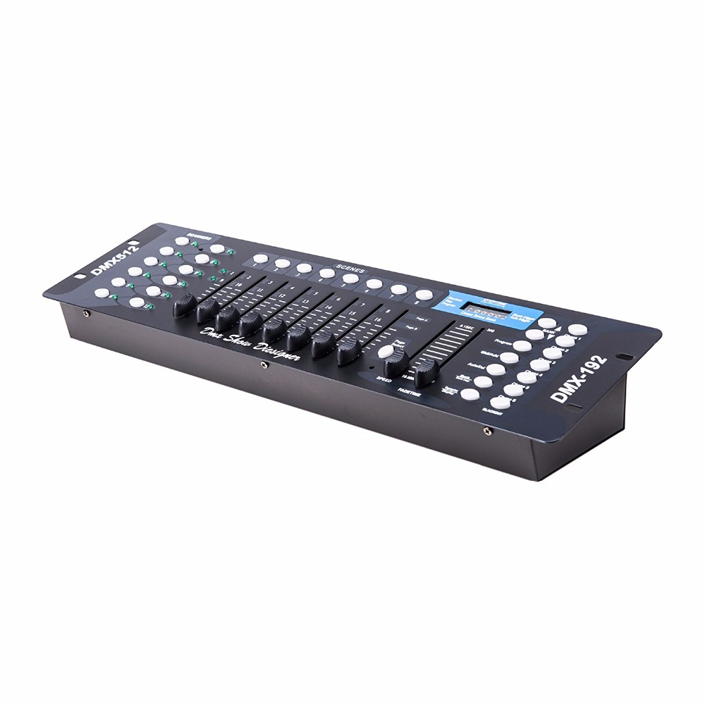 Free shipping 192CH DMX512 Stage DJ Light Controller for Lighting Party Pub Night Club DJ KTV Moving Heads dhl free shipping sunlite suite1024 dmx controller 1024 ch easy show lighting effect stage equipment dmx color changing tool