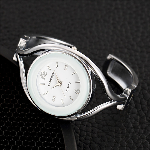 Fashion Silver Women Bangle Watches Casual Stainless Steel Ladies Bracelet Watch