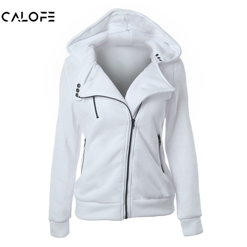 CALOFE Jacket Female Coats Cardigan Girls Casual Plus-Size Sleeveless Zipper