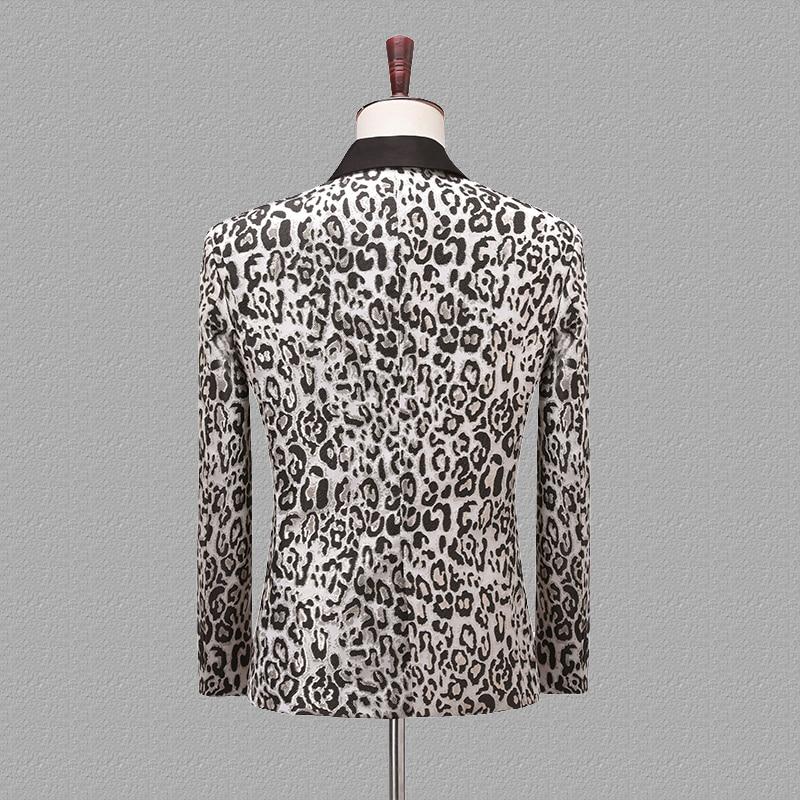 PYJTRL Mode Jacquard Leopard Muster Slim Fit Mantel Lässig Blazer Männer Veste Homme Kostüm Sänger Anzug Jacke Kleidung-in Blazer aus Herrenbekleidung bei  Gruppe 2