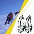 18 Crampons Dentes Anti Queda da Neve do Inverno Esqui Alpinismo Não Escorregar Sapatos Cobrir Activicies Perfeito Para Ao Ar Livre