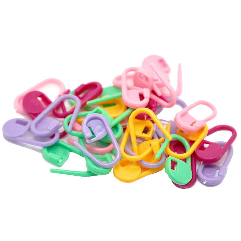 20/40/60/80/200PCs Plastic Knitting Stitch Markers Colorful Locking Ring Holders Needle Clip Crochet Hook DIY Sewing Accessories