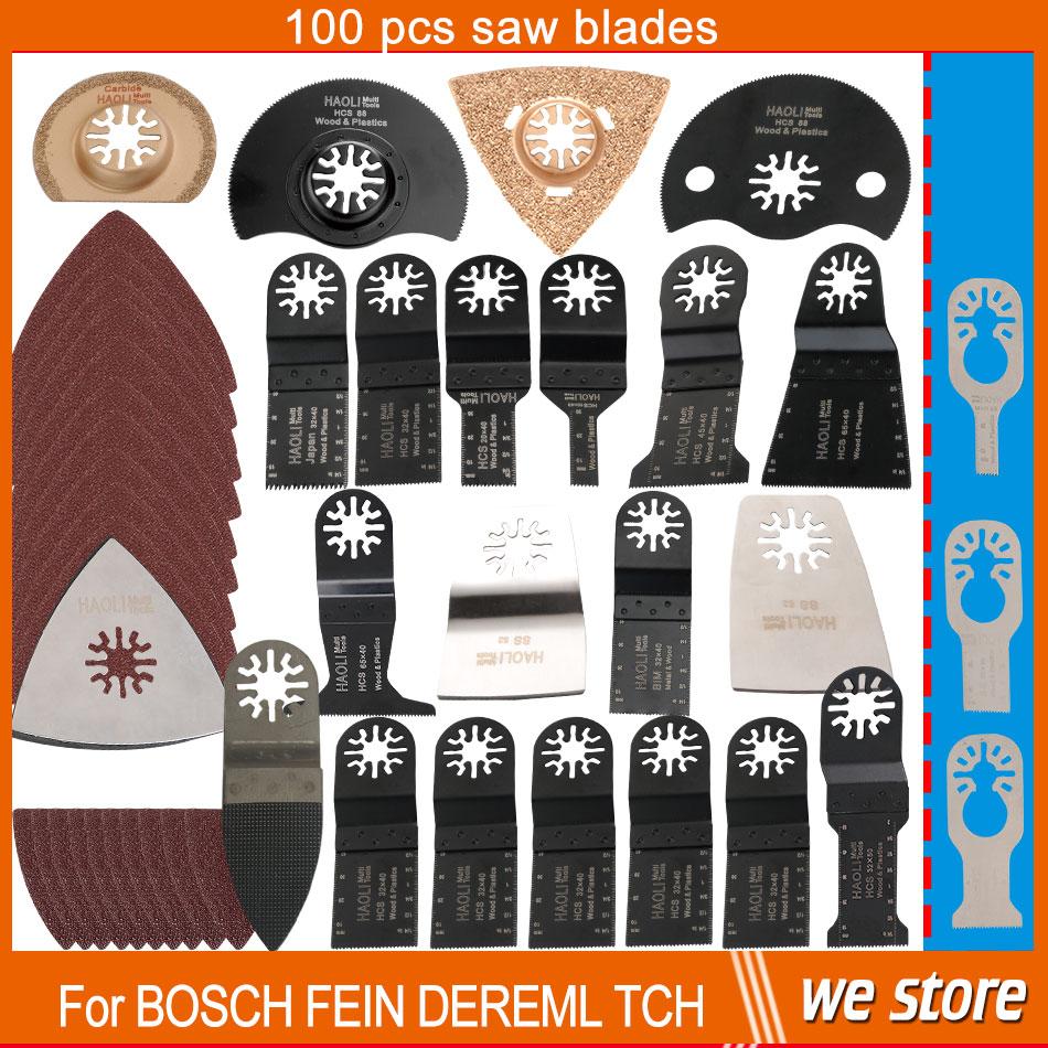 ФОТО 100 pcs/kit oscillating multi tool saw blades accessories for renovator power tool as Fein multimaster,Dremel