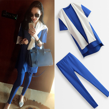 Crop Top And Skirt Set Hot Sale 2017 New Women's Long-sleeved Short-sleeved T-shirt + Cap Scarf Slim Leggings 3 Sets Of Women