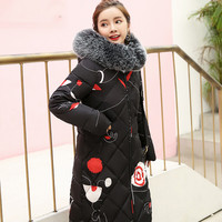 Women Fashion Parka Ladies Winter Warm Solid Thicker Long Jacket Long Sleeve Slim Lammy Outwear Fur Hoodeies Hair Collar Coat