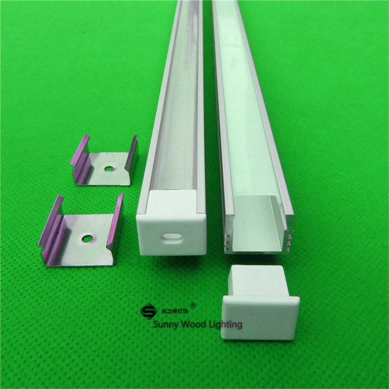 10pcs of 40inch 2m <font><b>W16</b></font>*H12MM <font><b>led</b></font> aluminum profile ,2m <font><b>led</b></font> bar light with 5050 strip,milky/transparent cover for 12mm pcb image