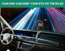 5.8 «Цифровой спидометр автомобиля OBD2 Автомобиля Head Up Display With Anti-slip Pad E350 стайлинга Автомобилей Лобового Стекла Проектор HUD # iCarmo
