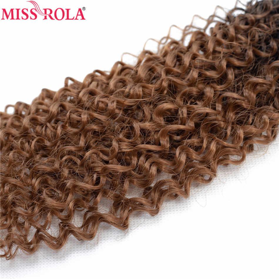 Miss Rola Ombre paquetes de pelo sintético extensiones de cabello rizado cabello tejido T1B/30 18-22 ''6 unids/pack 200G con cierre gratuito
