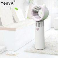 Mini Handheld Blattloser Ventilator Luftkühler USB Aufladbare Ventilator Mit LED Ligth Tragbare Abnehmbare Basis Fan Für Outdoor-in Ventilatoren aus Haushaltsgeräte bei