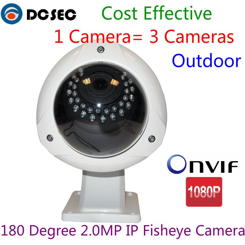 Details about 2MP 180 degree Wide Angle IR Dome Fisheye 1080P IP Camera POE  Outdoor Onvif p2p